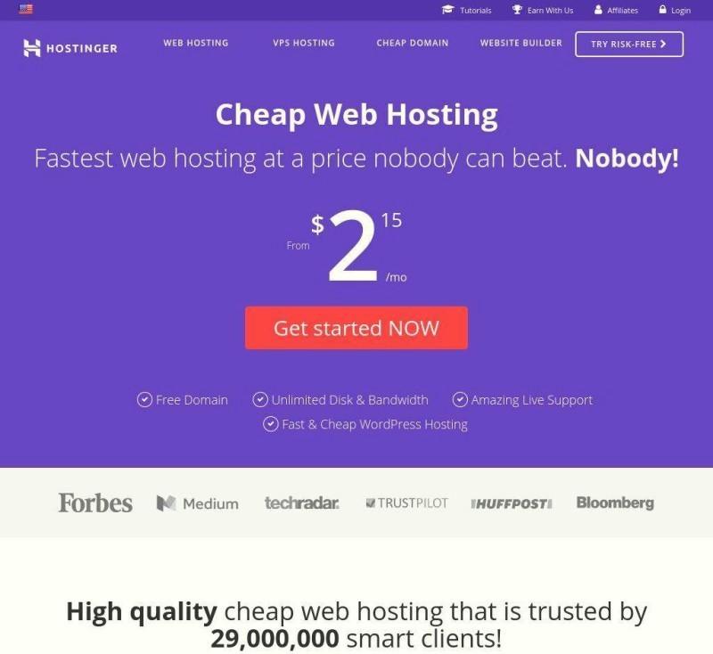 Hostinger-Review-Web Hosting-Review-Home-Page